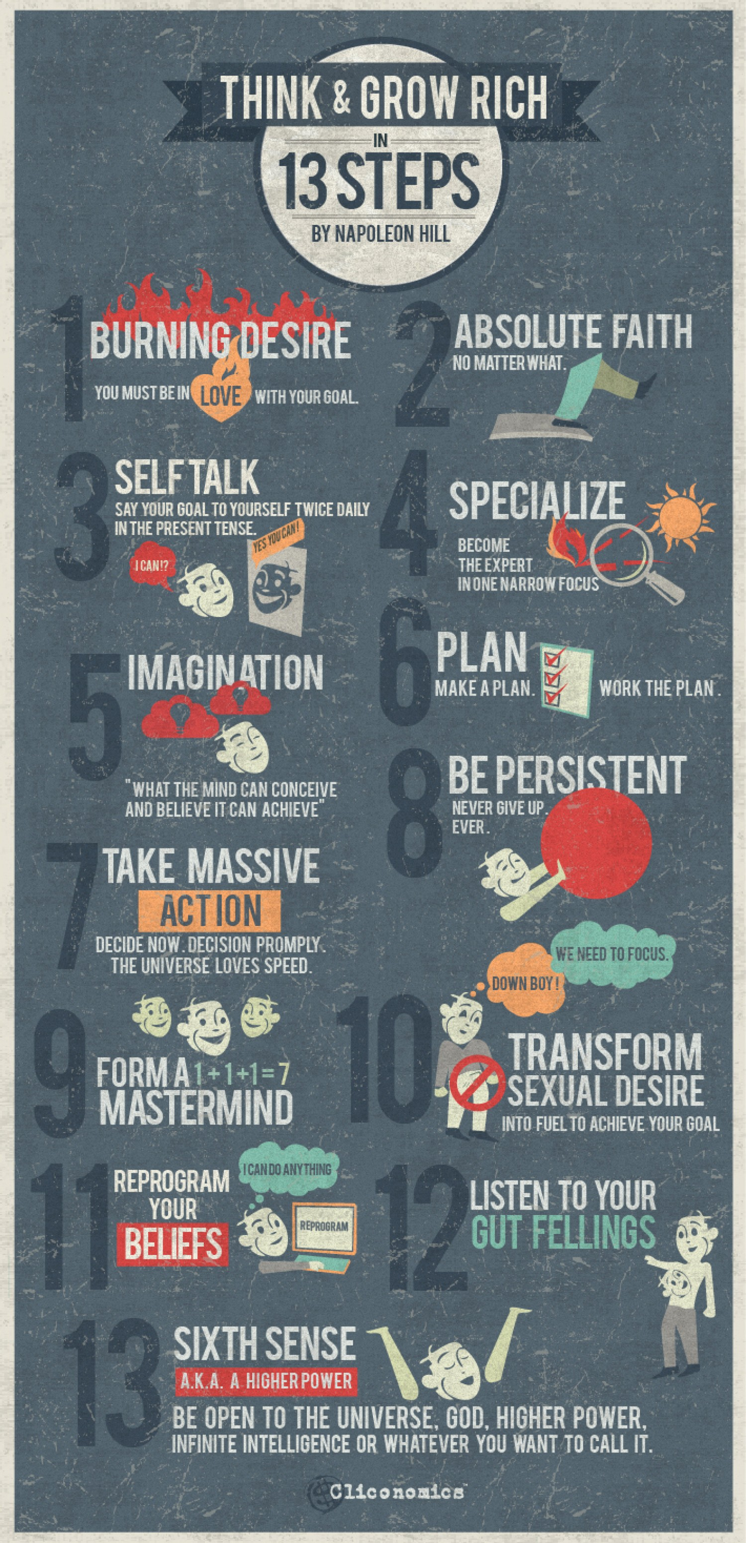 Think And Grow Rich Quotes Think & Grow Rich Quotes Infographic