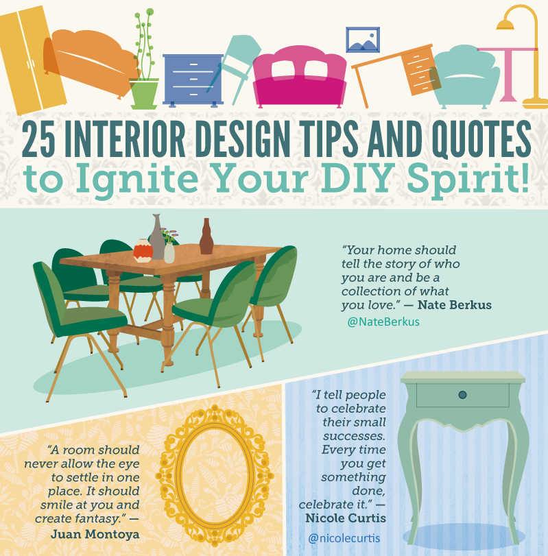 25 interior design tips and quotes to ignite your diy for Interior design advice