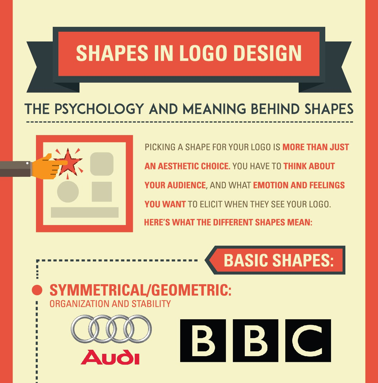 shapes in logo design  the psychology meaning behind logo