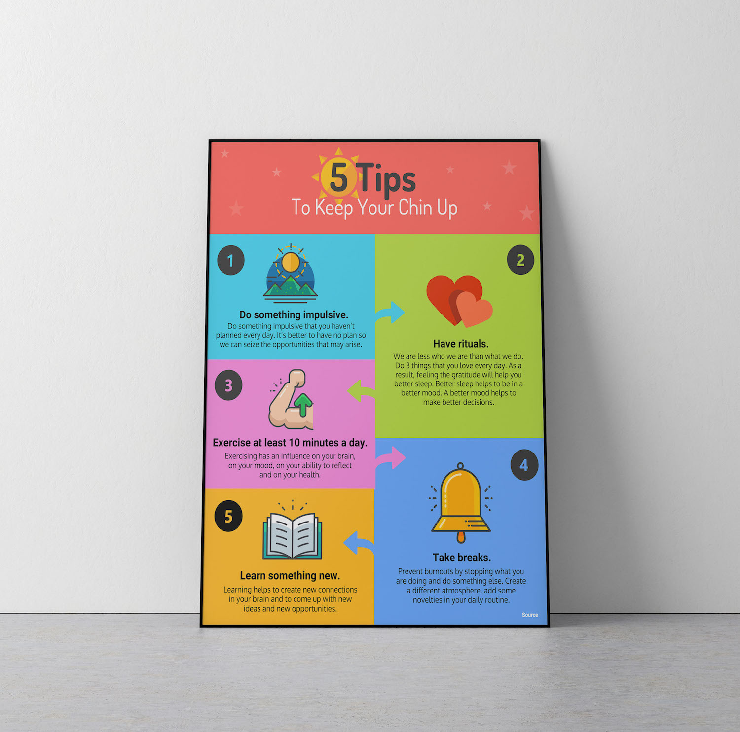 5 Tips To Keep Your Chin Up - Venngage Infographic Templates
