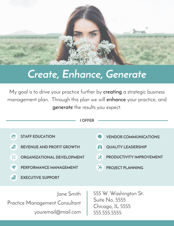 White & Green Printable Product Flyer Idea1