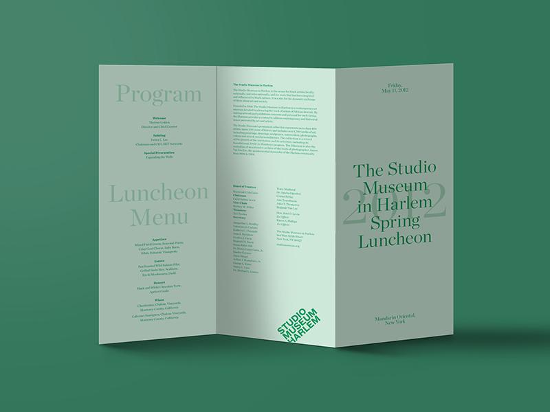Studio Museum Green Tri Fold Brochure Idea