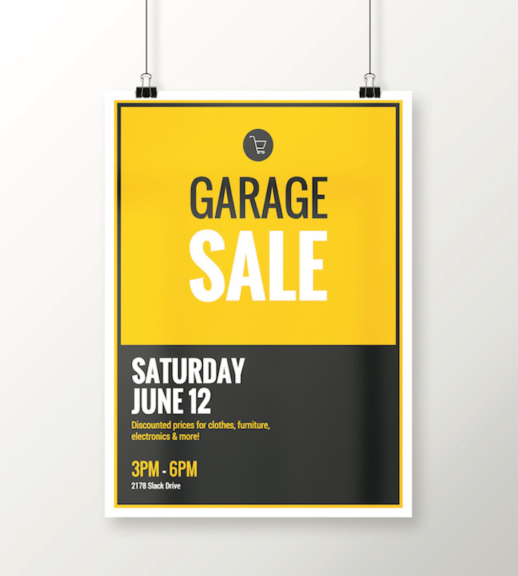 black yellow flat event poster idea venngage poster examples