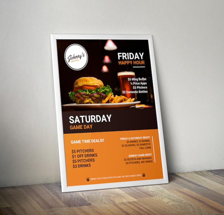 creative bar restaurant event flyer idea venngage flyer examples