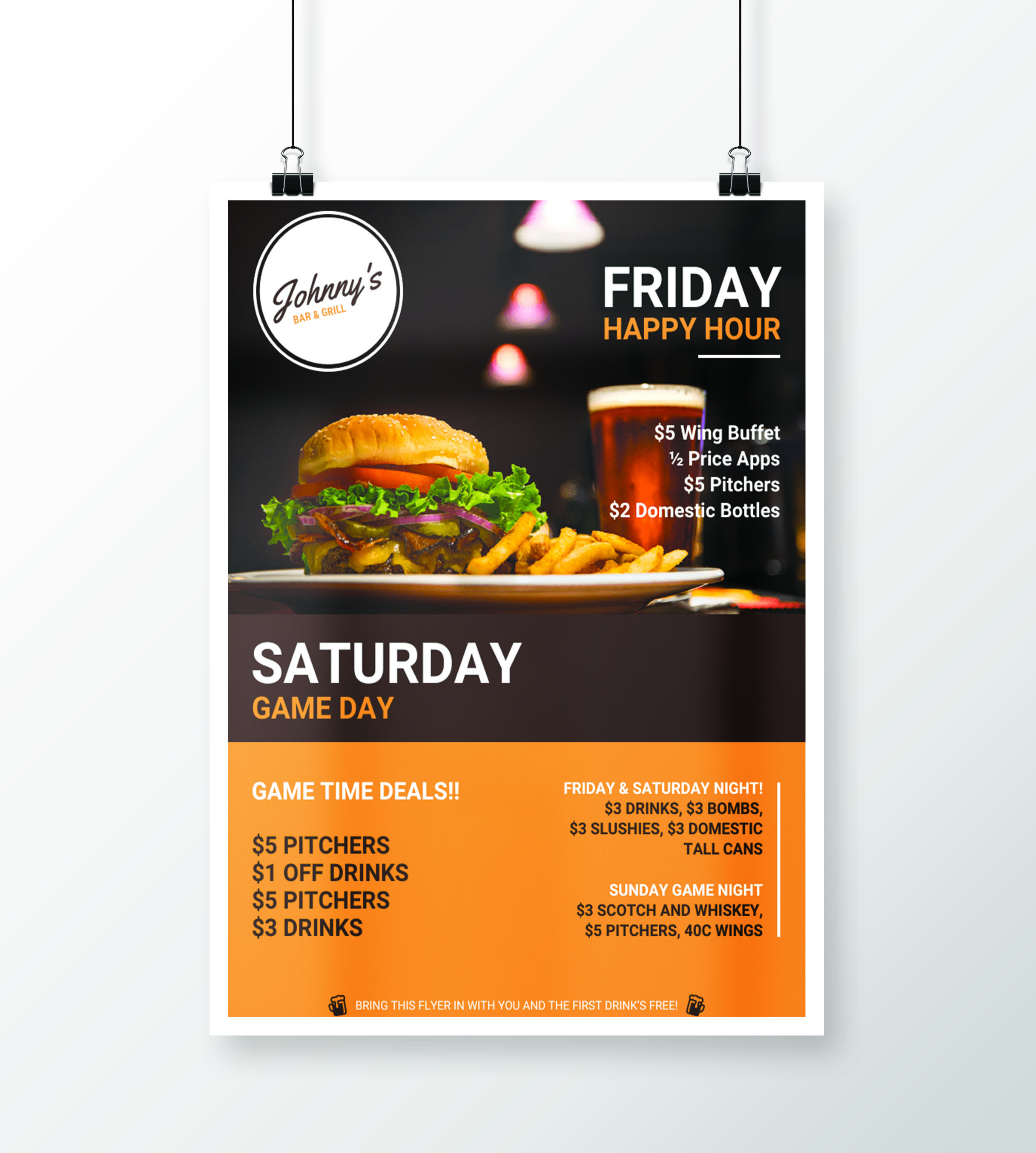 Creative Bar & Restaurant Event Flyer Idea - Venngage ...