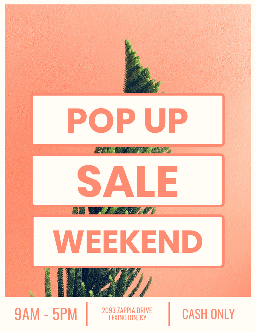 Pop Up Sale Creative Marketing Poster Idea - Venngage ...