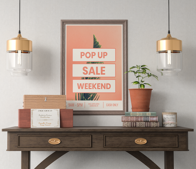 Pop Up Marketing Creative Poster Example