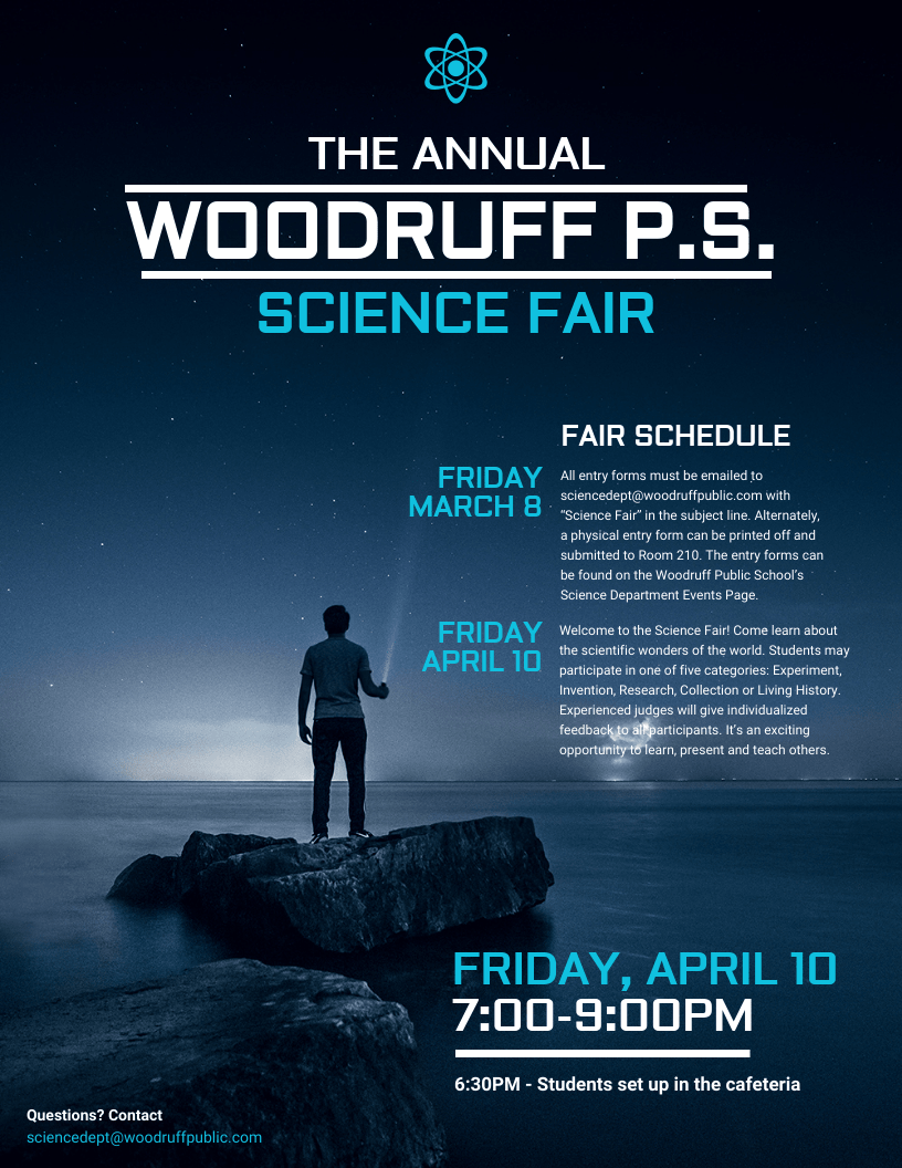 Futuristic Science Fair Event Flyer Idea