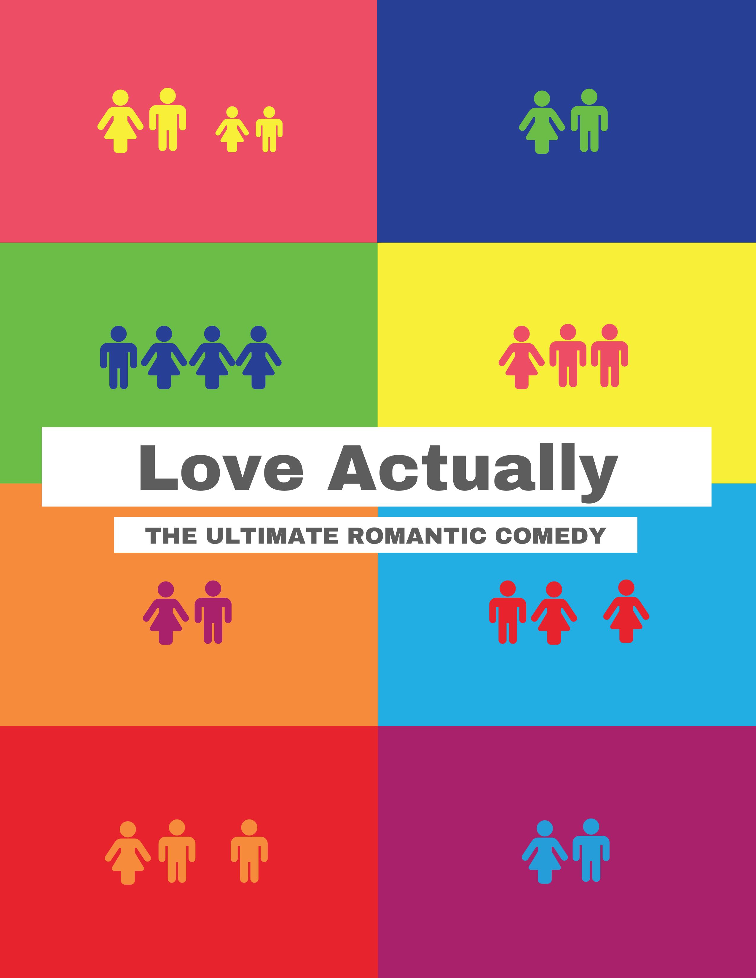 Love Actually Modern Movie Poster Idea