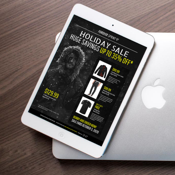 Modern Black & Yellow Holiday Sales Flyer Idea1