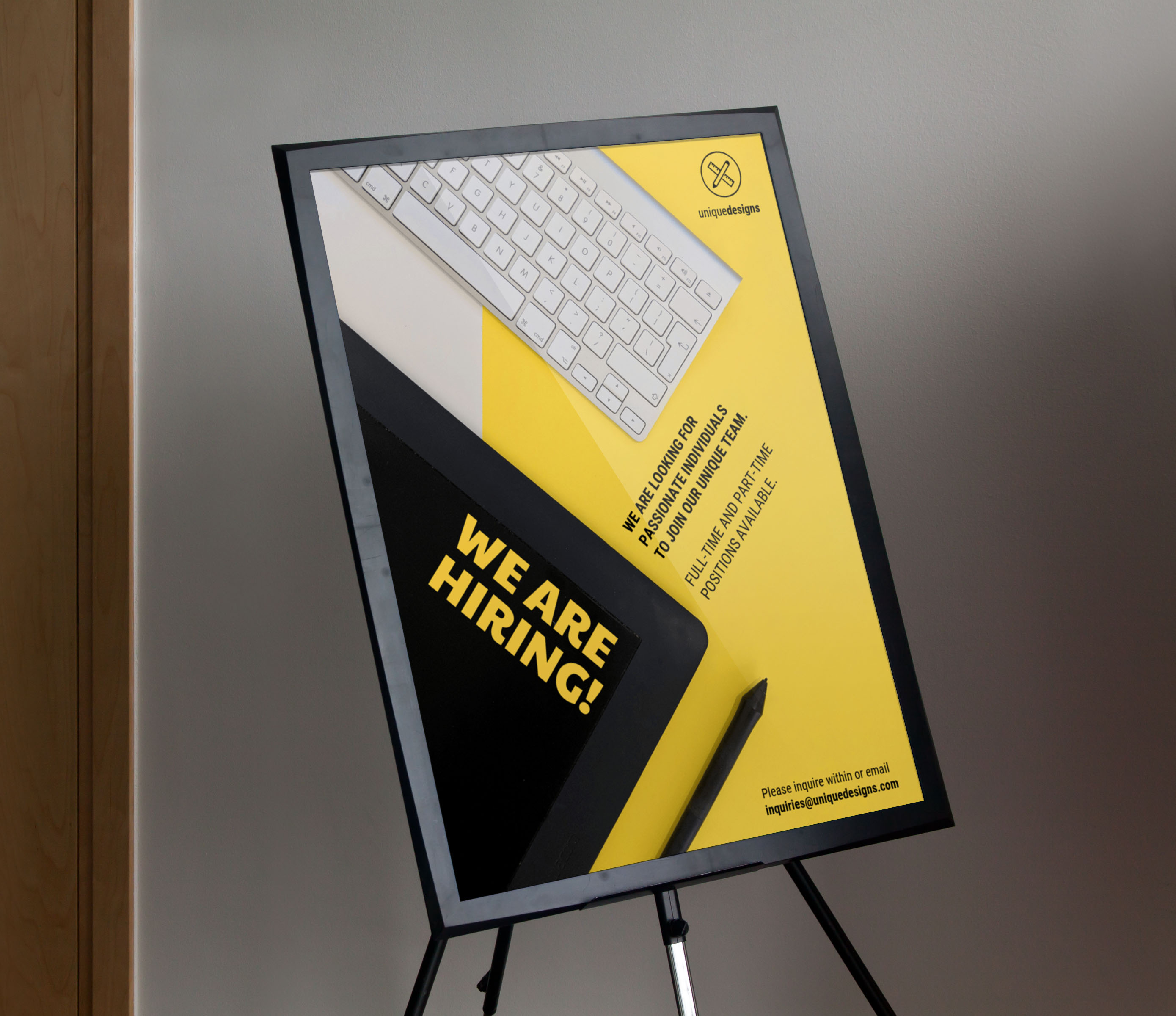 Yellow Now Hiring Event Poster Example22