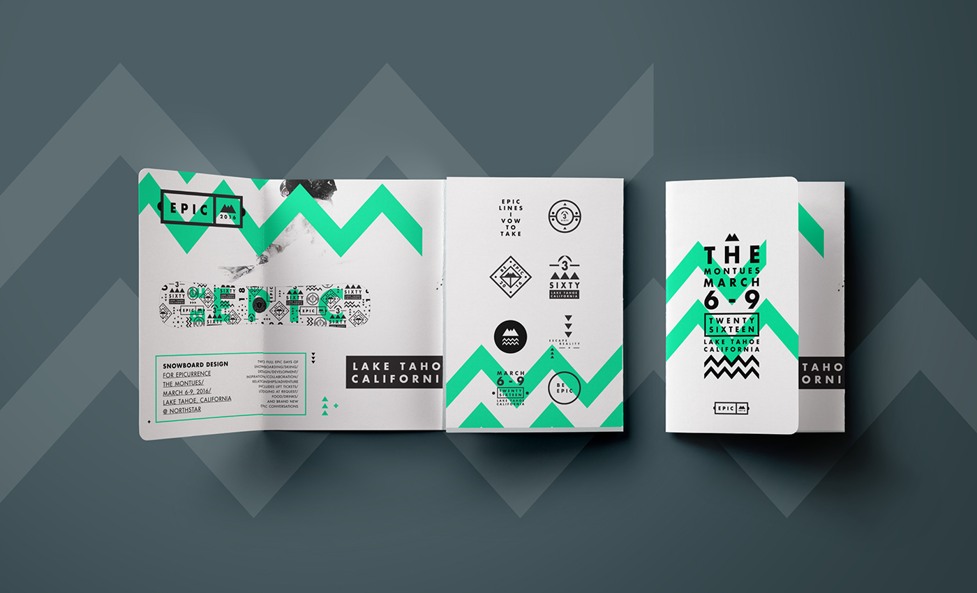 EPIC Green Tri-Fold Travel Brochure Idea