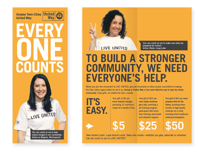 United Way Orange Nonprofit Brochure Idea