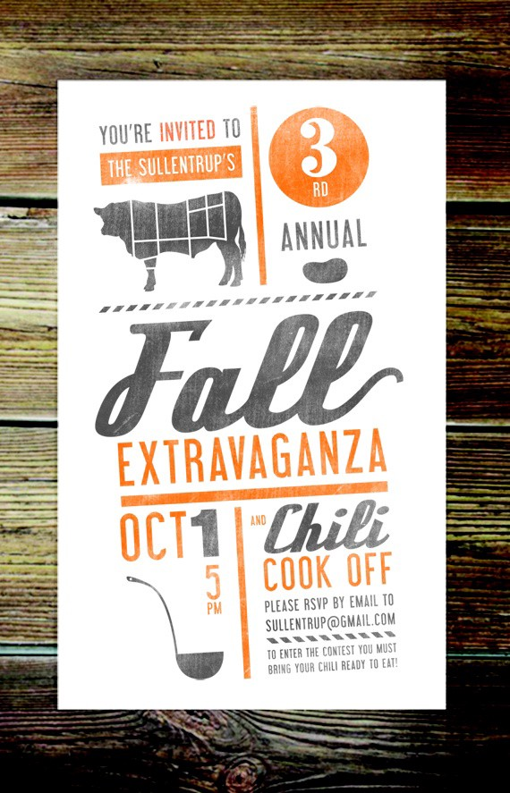 Brilliant Hand Crafted Black & Orange Event Flyer Idea