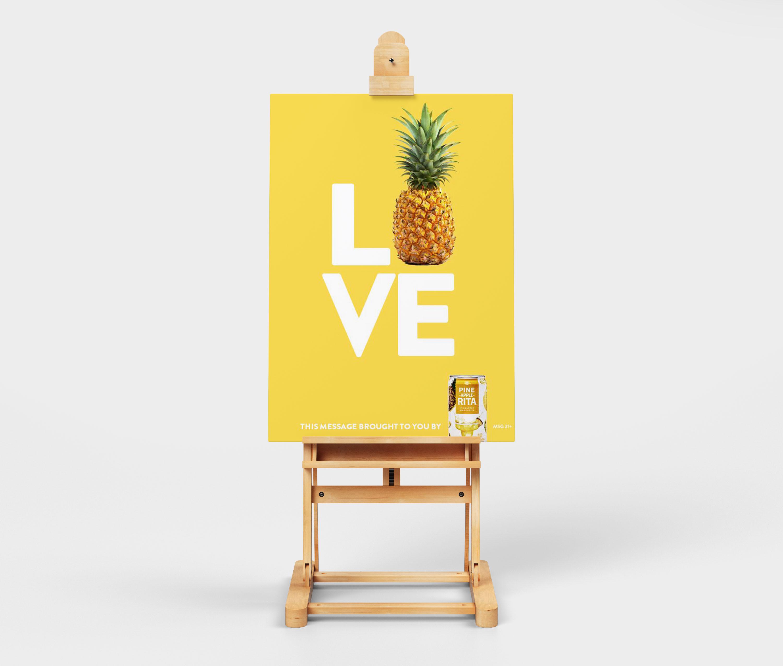 bold yellow pineapple advertising flyer idea
