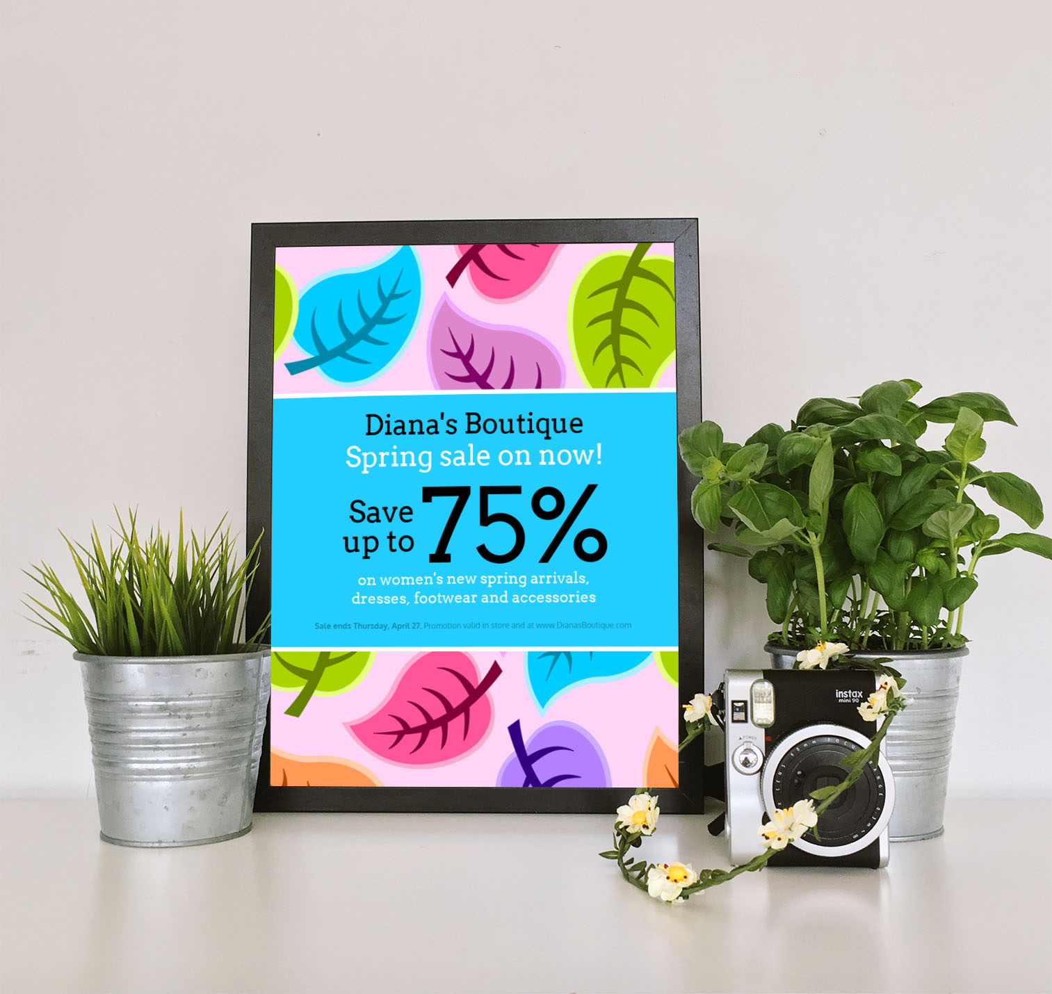 Colorful Spring Clothing Sales Flyer Idea