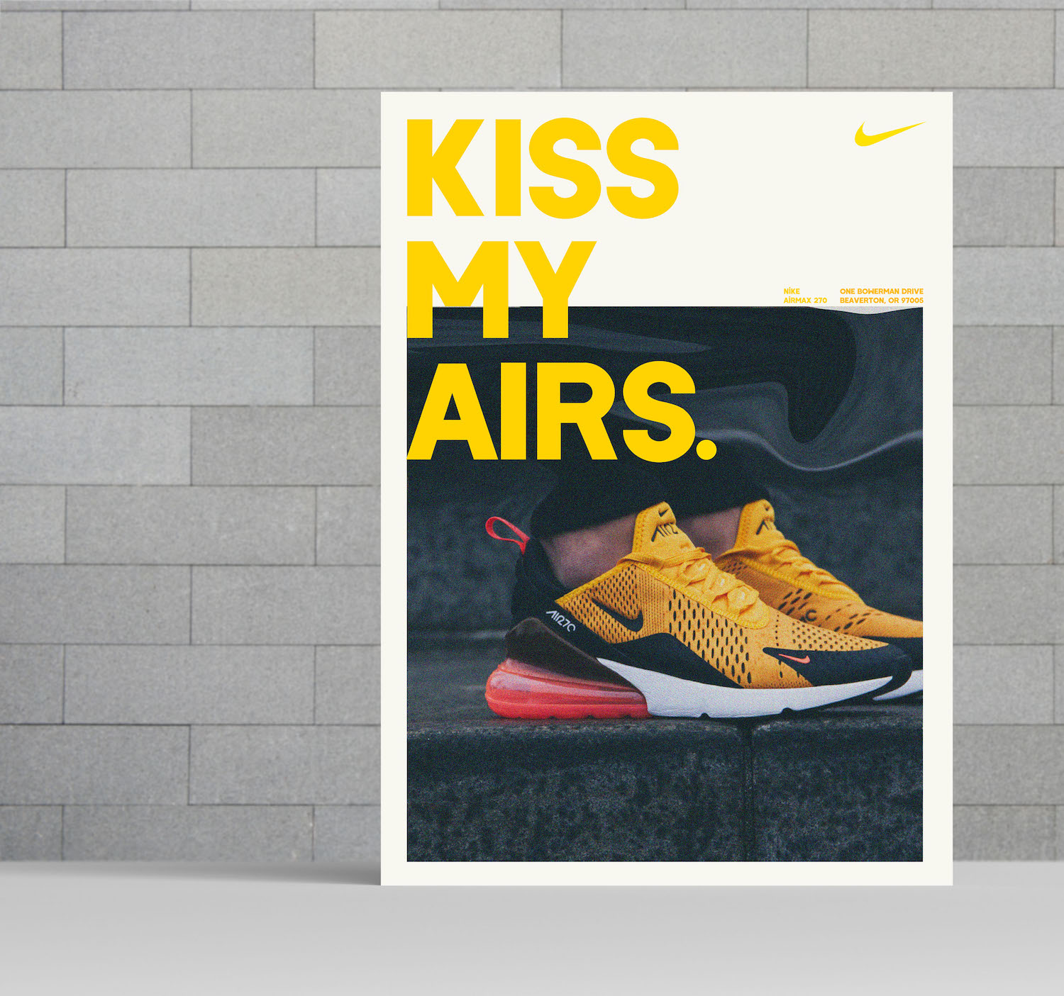 modern  u0026 bold yellow nike product flyer idea