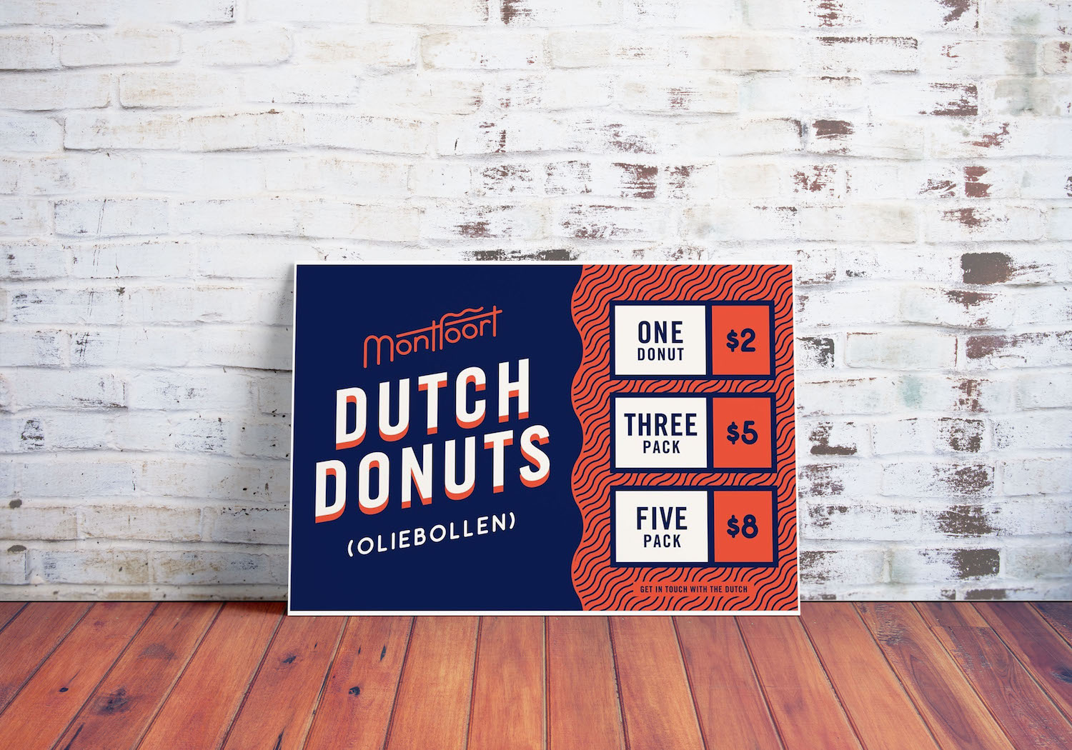 Playful Blue & Red Patterned Donut Product Flyer Idea 4
