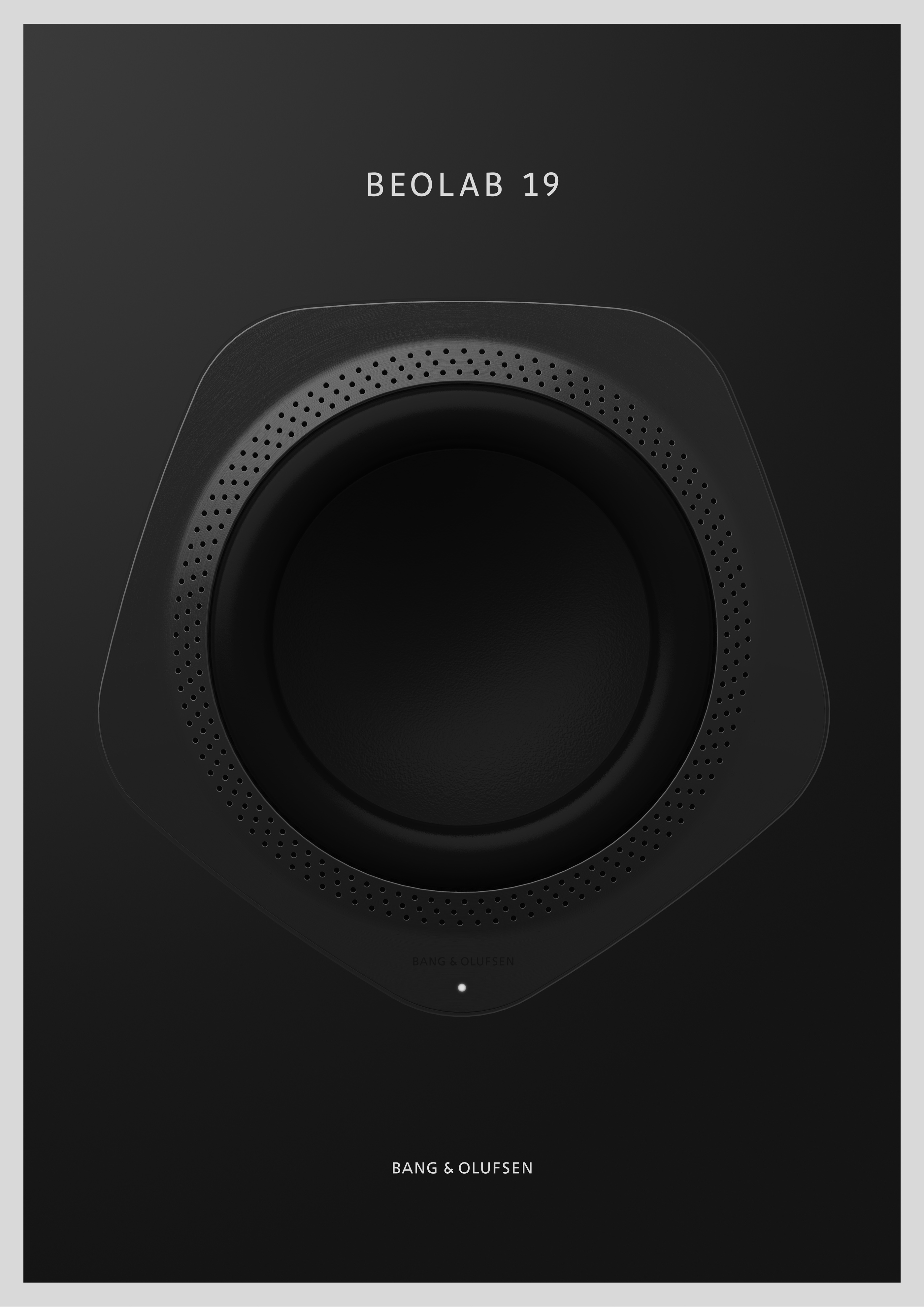 Ultra Minimalist Black Bang & Olufsen Product Flyer Idea 3
