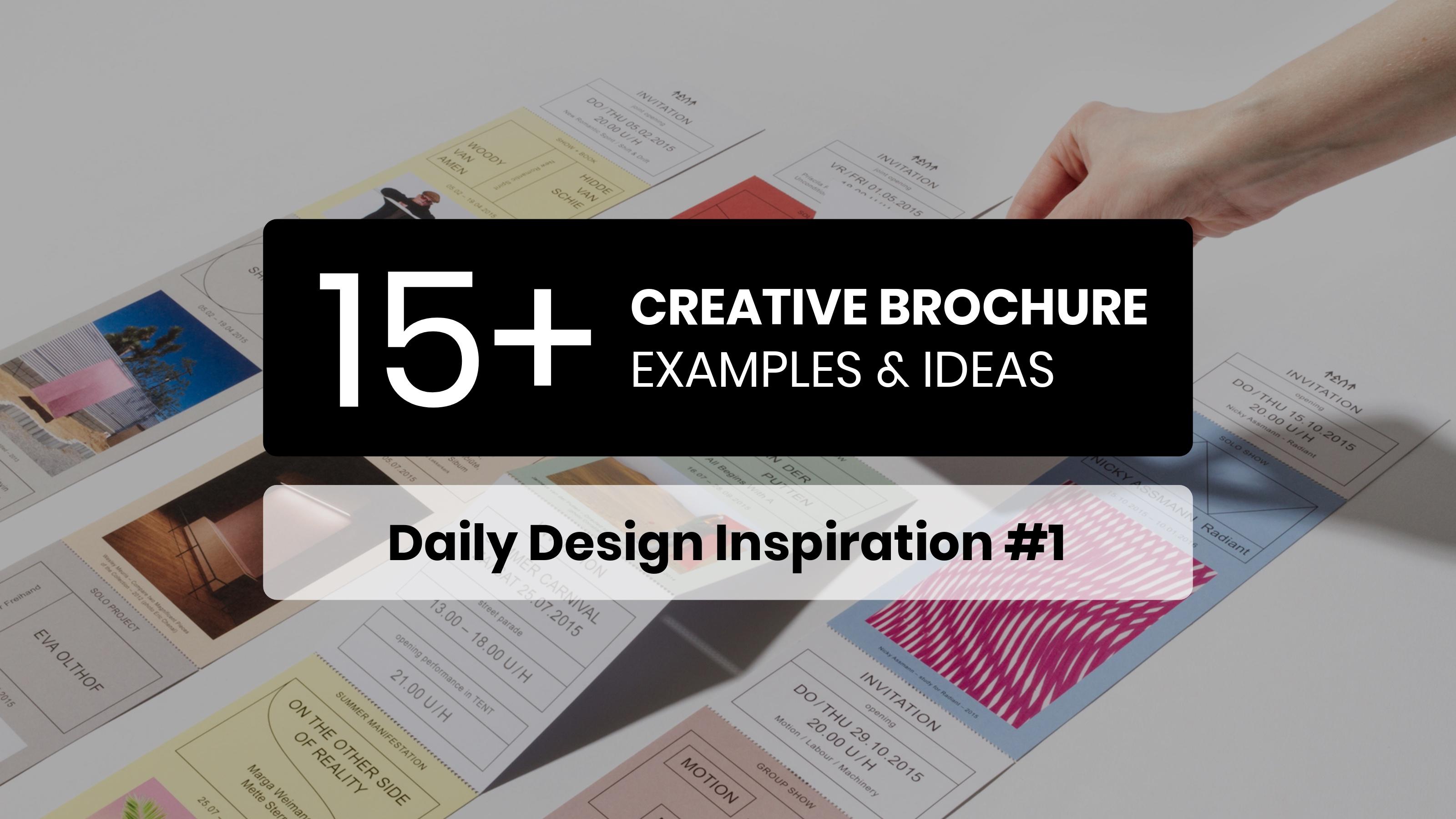 15 creative brochure examples ideas daily design inspiration 1