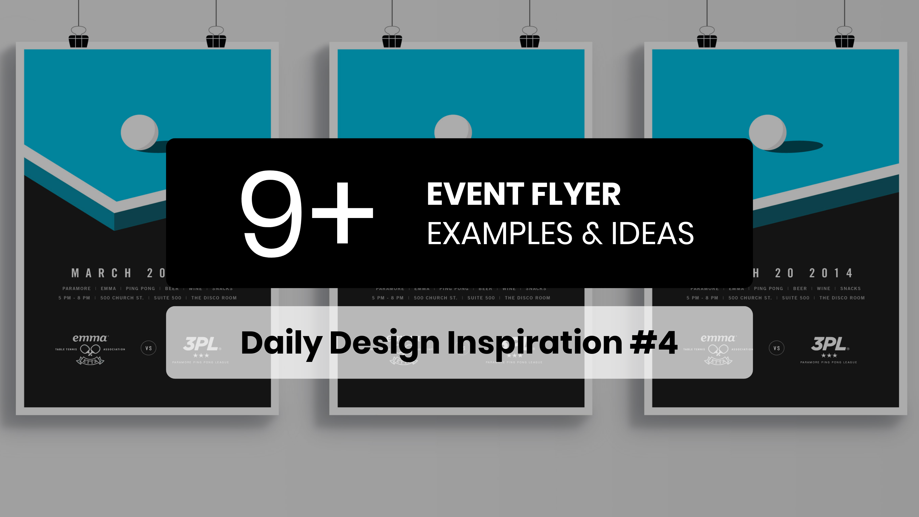 9 Event Flyer Inspiration Examples & Templates