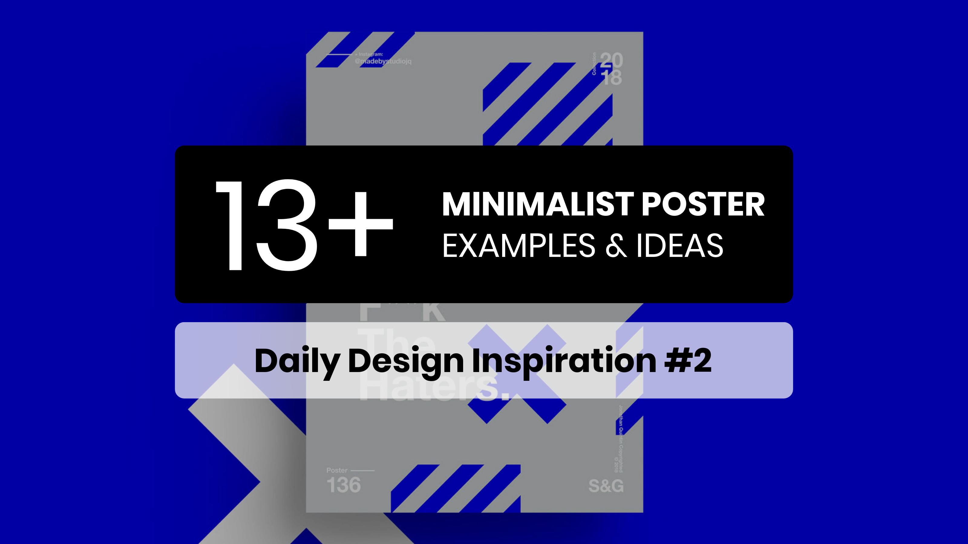 13 Minimalist Poster Examples & Templates