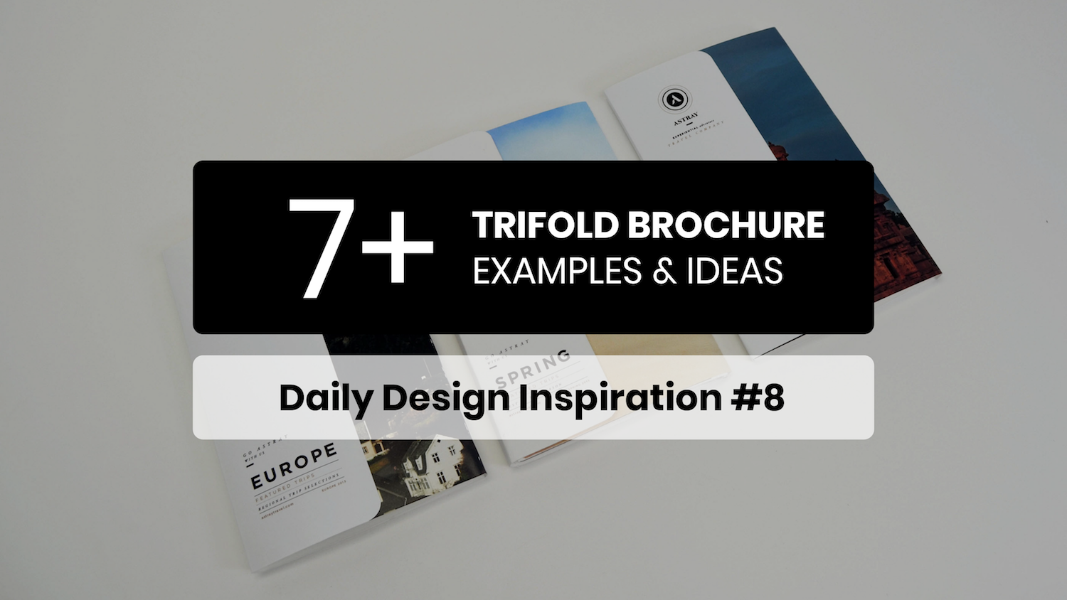 7+ Trifold Brochure Inspiration Examples & Templates – Daily Design Inspiration #8