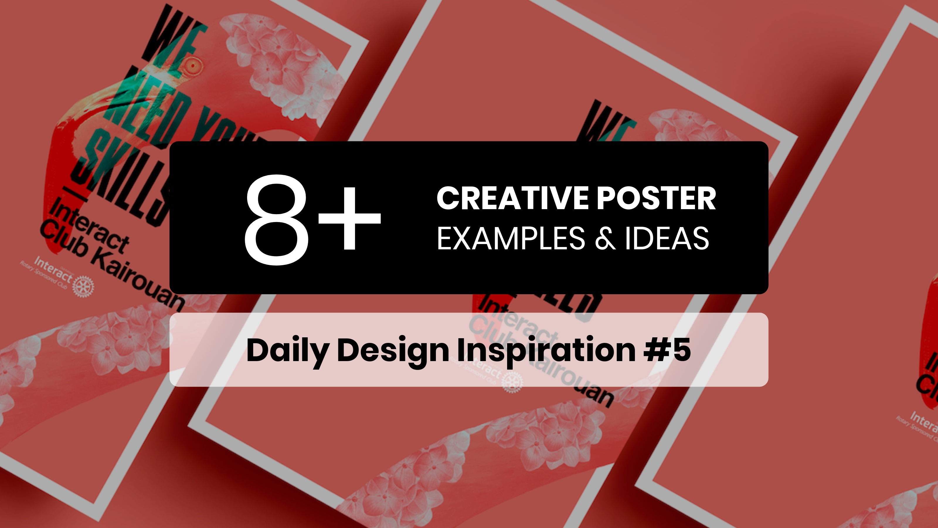 8 creative poster inspiration examples templates daily design