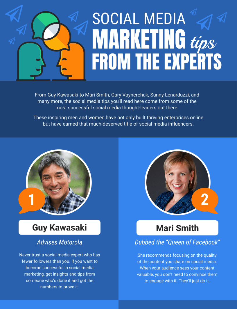 8 Social Media Marketing Tip From Experts Infographic Idea copy