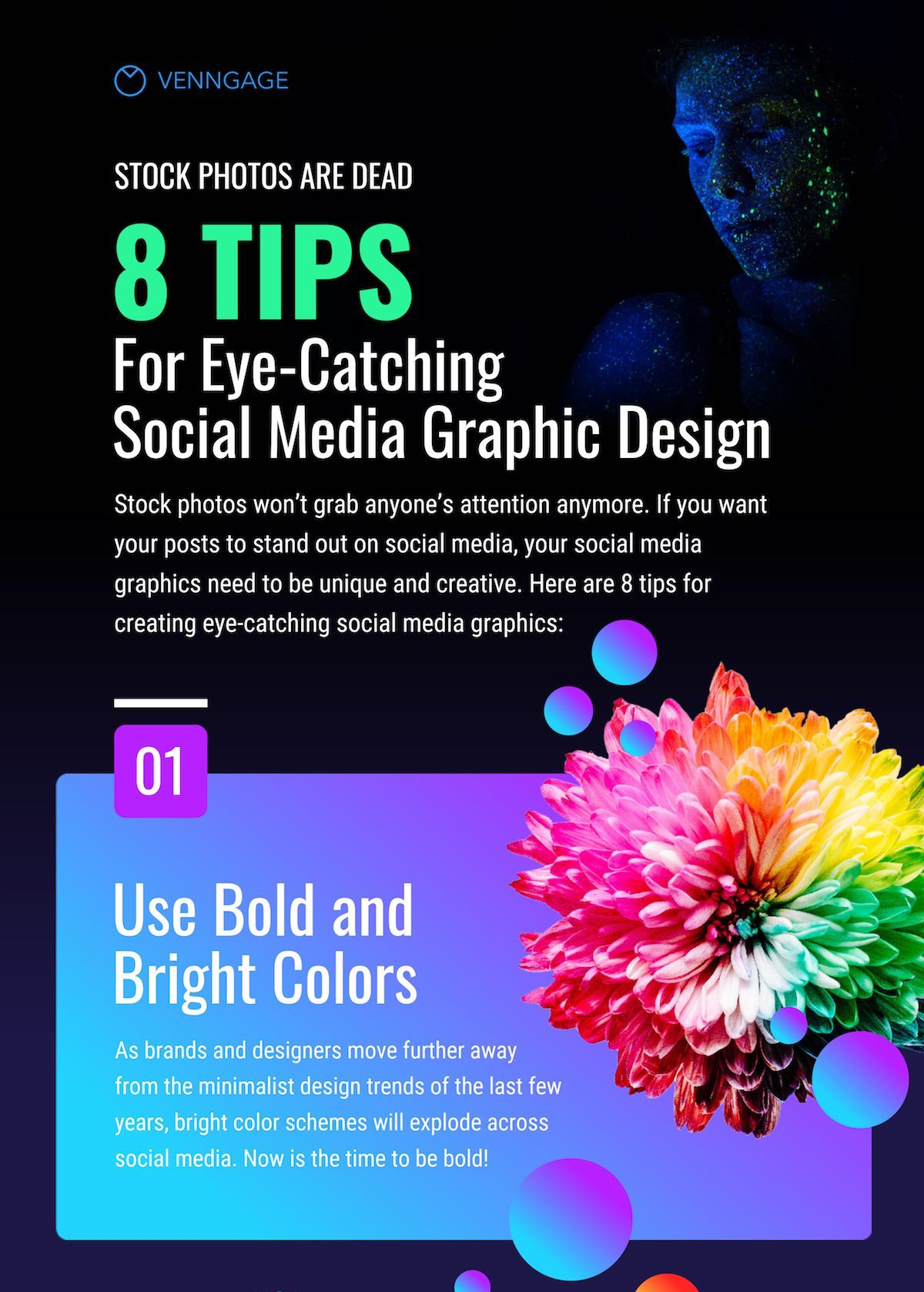 8 Tips For Eye Catching Social Media Graphic Design Infographic