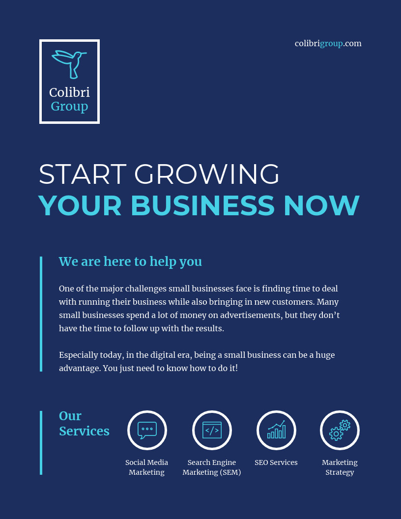 business flyer ideas