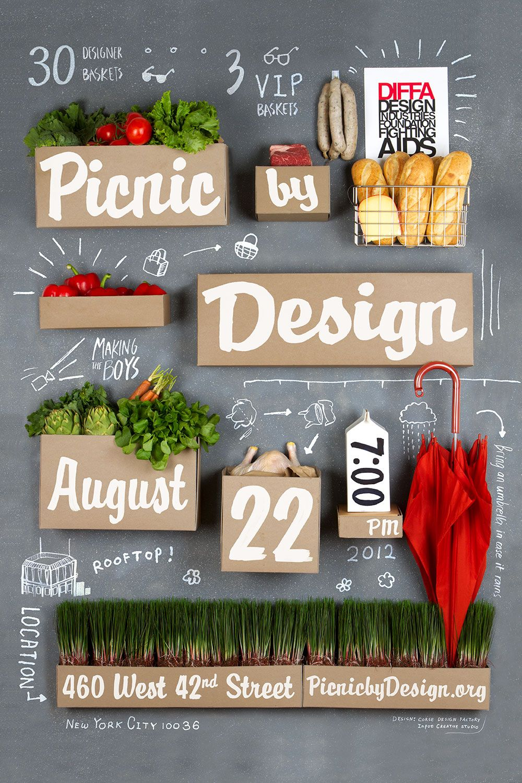 picnic by design event poster design design