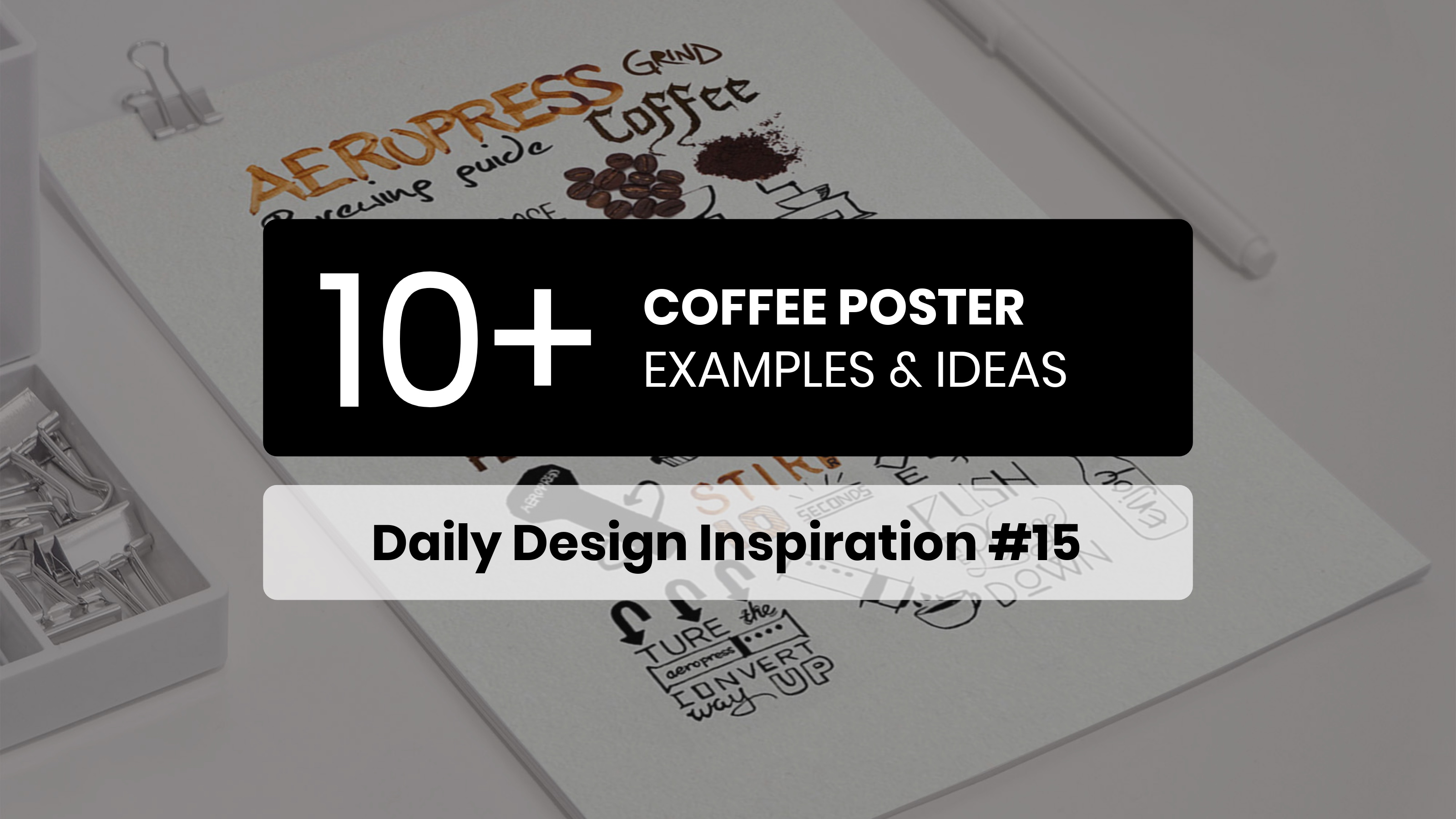 10+ Interesting Coffee Poster Examples & Ideas