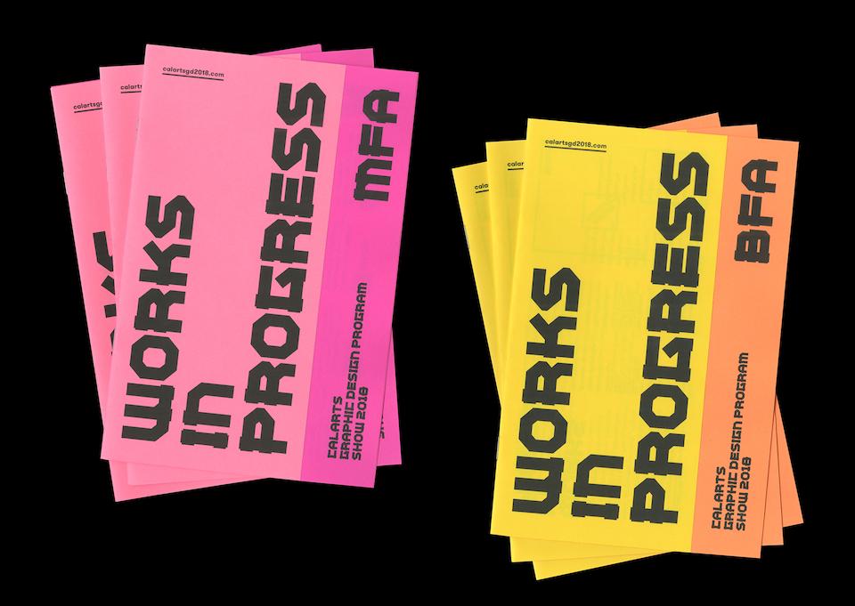 Works in Progress Event Brochure Examples