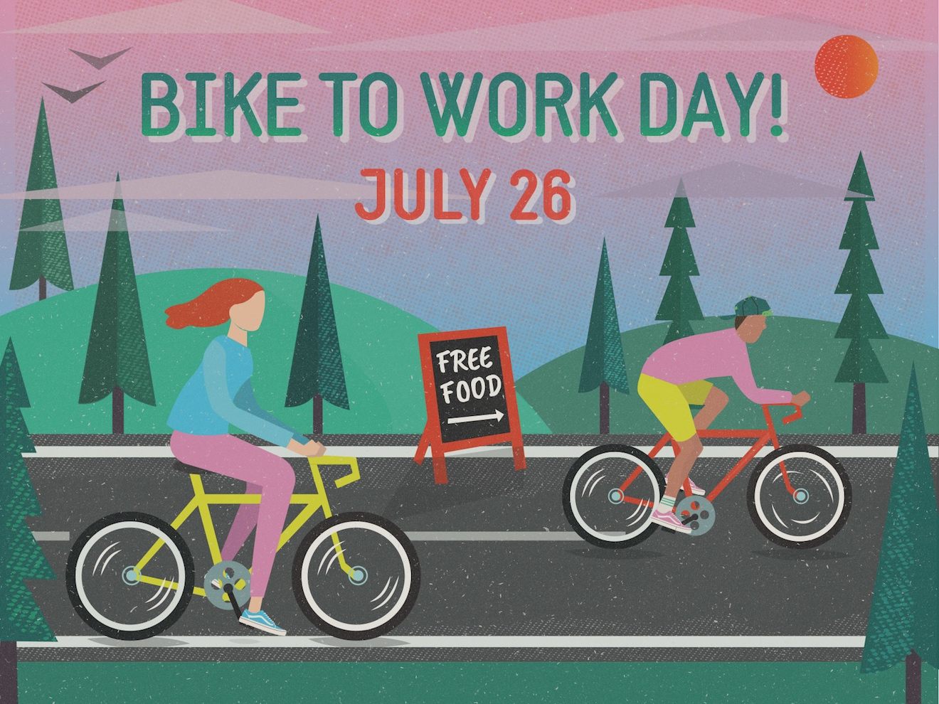 Bike-To-Work-Day Creative Horizontal Event Flyer Example2
