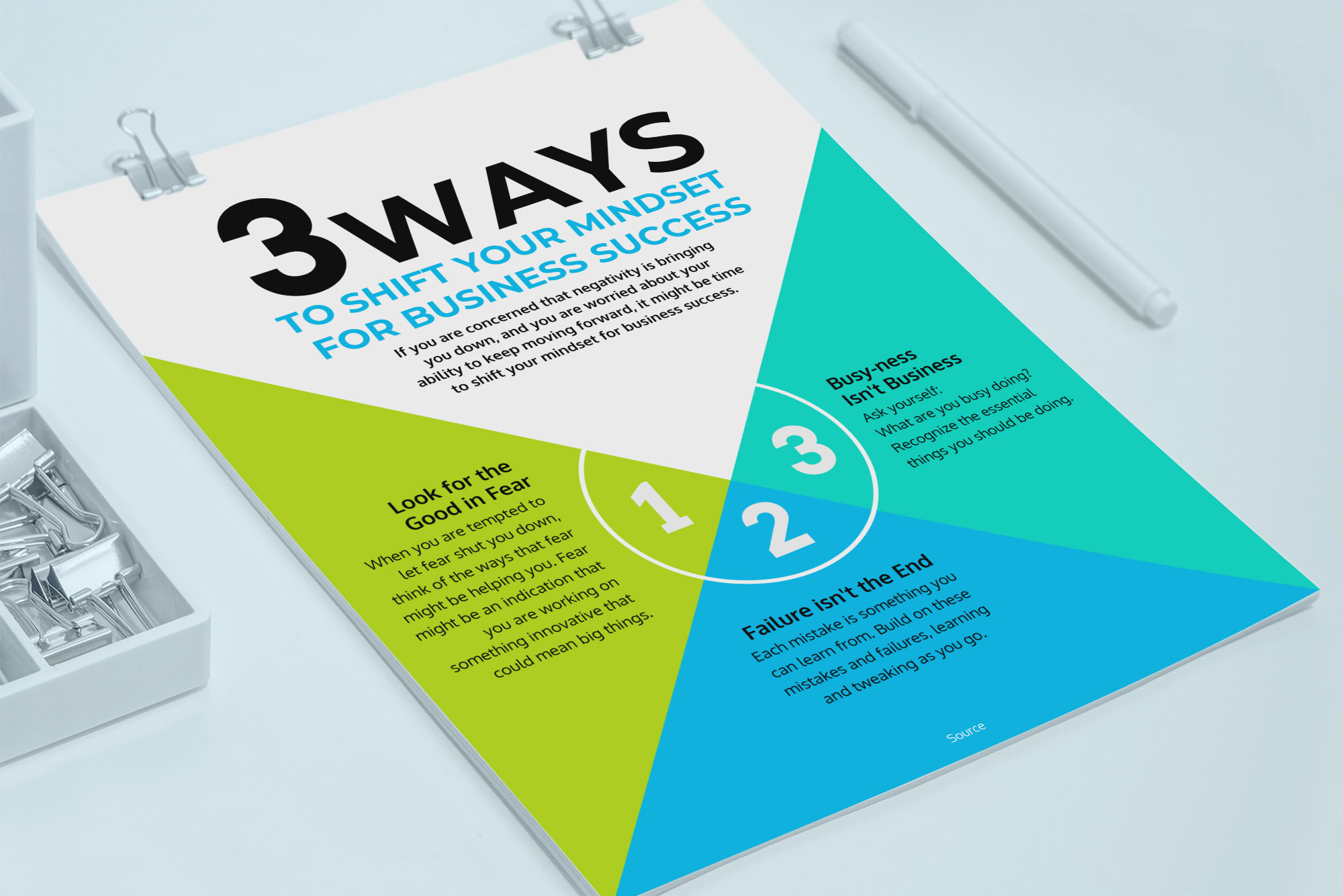 Colorful Business Information Flyer Template2