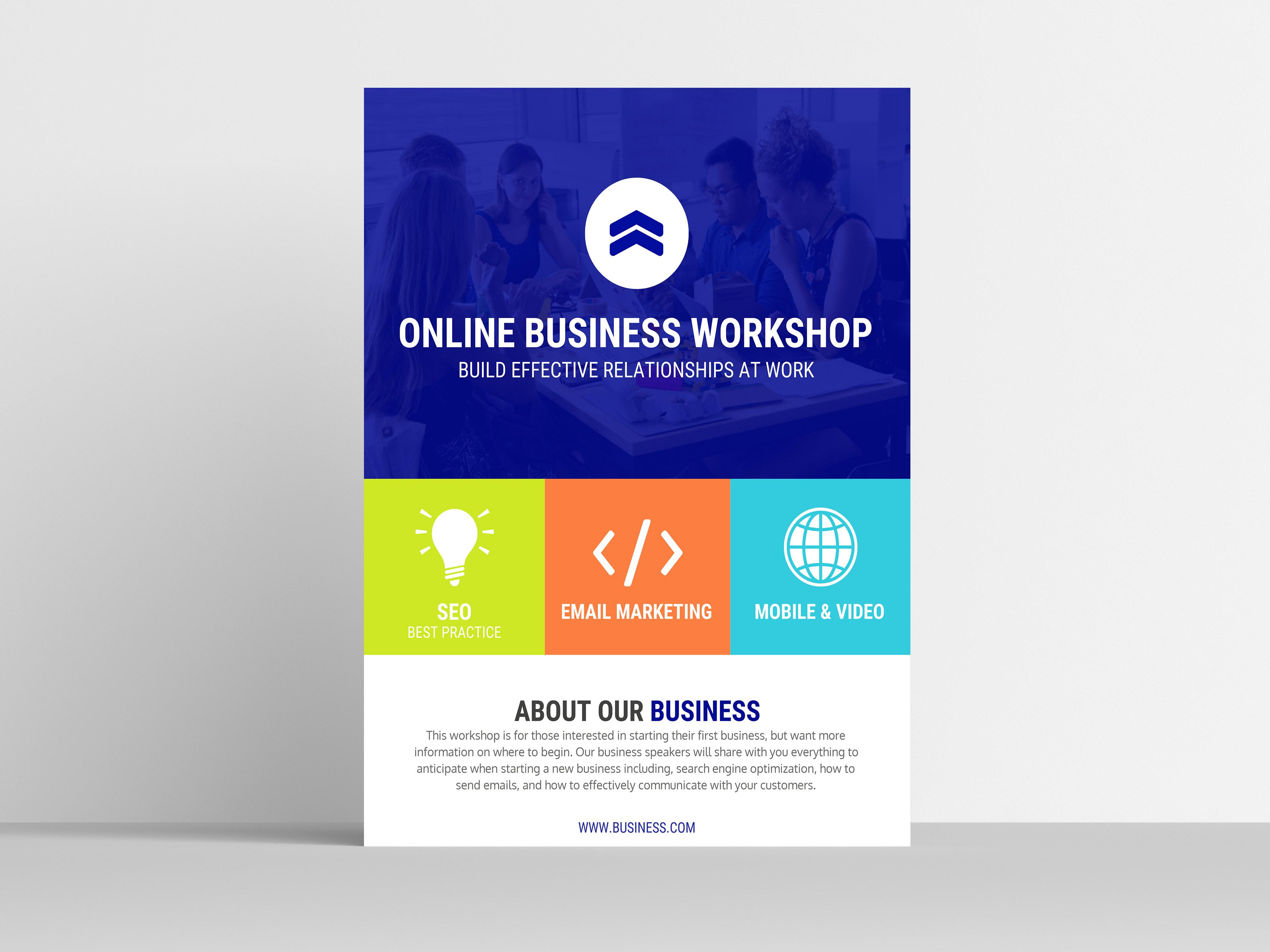 Colorful Transparent Workshop Flyer Template3