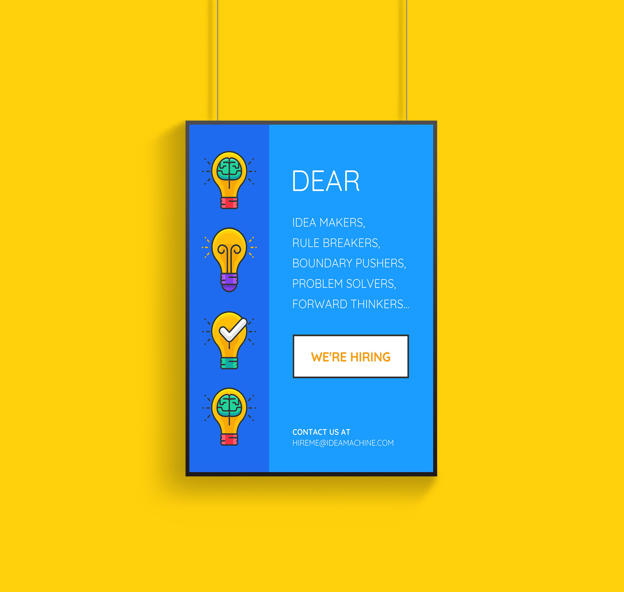 Creative Startup Now Hiring Flyer Template33