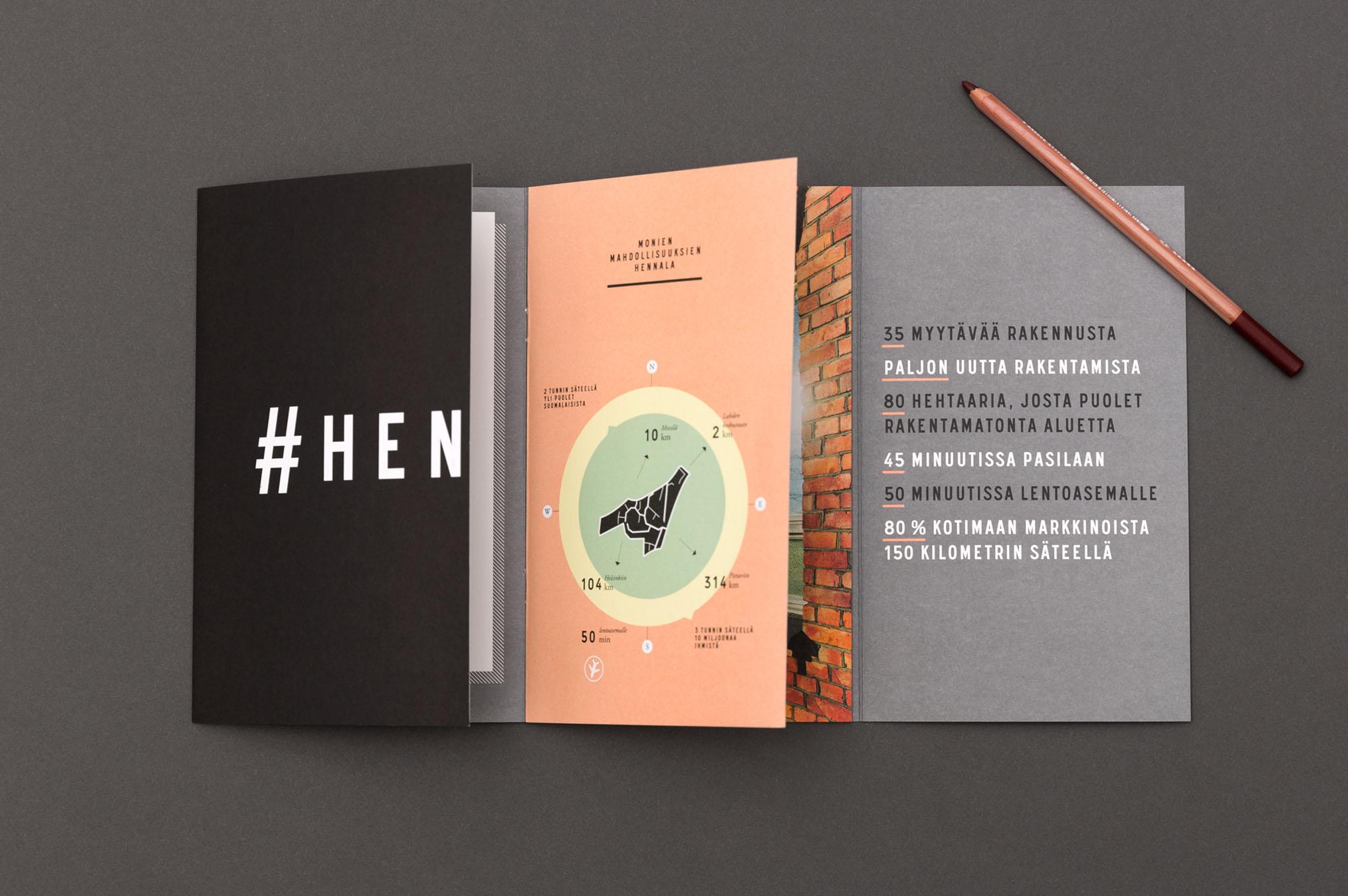 hennala creative branding brochure example