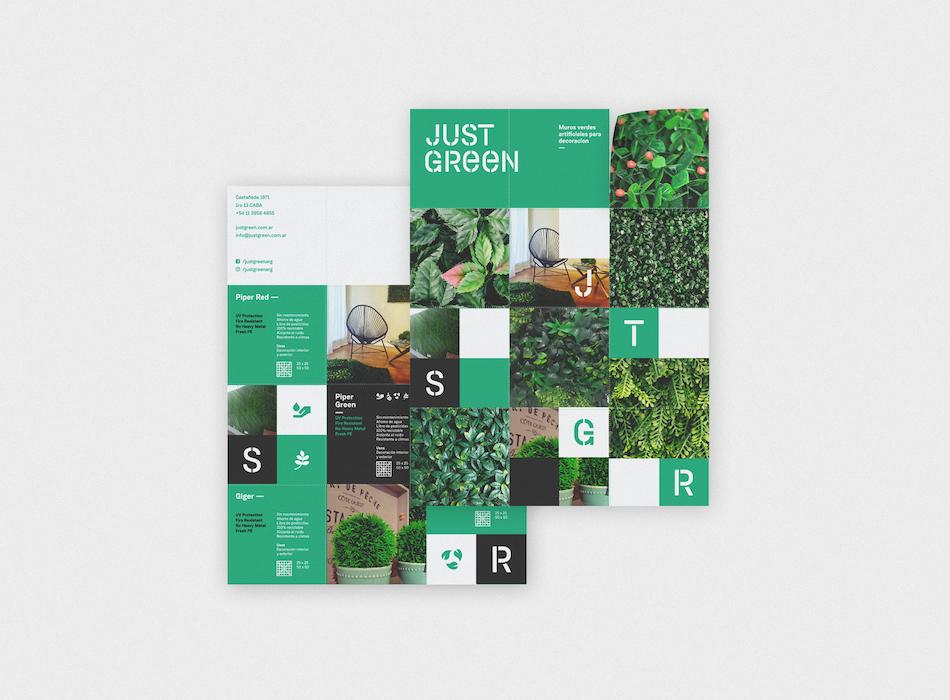 Just Green 360 Branding Brochure Example