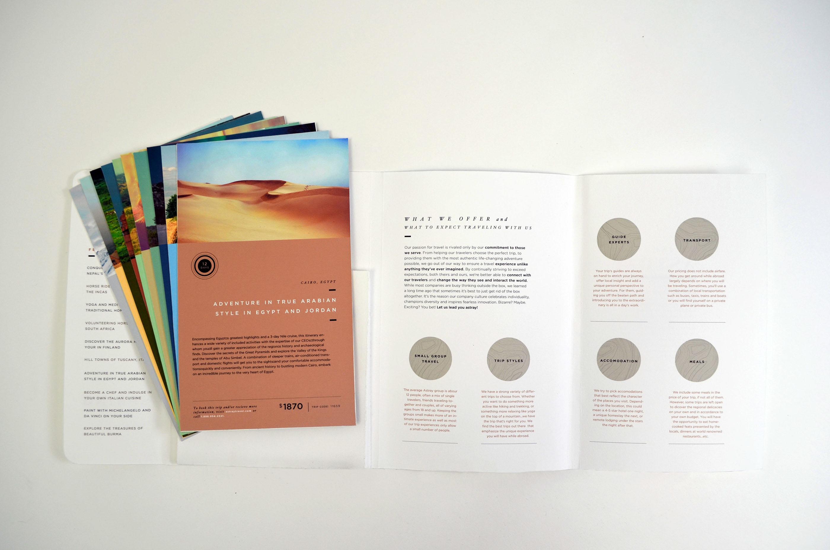 minimalist astray travel brochure idea