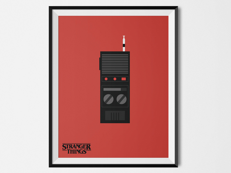 red stranger things minimalist movie poster example