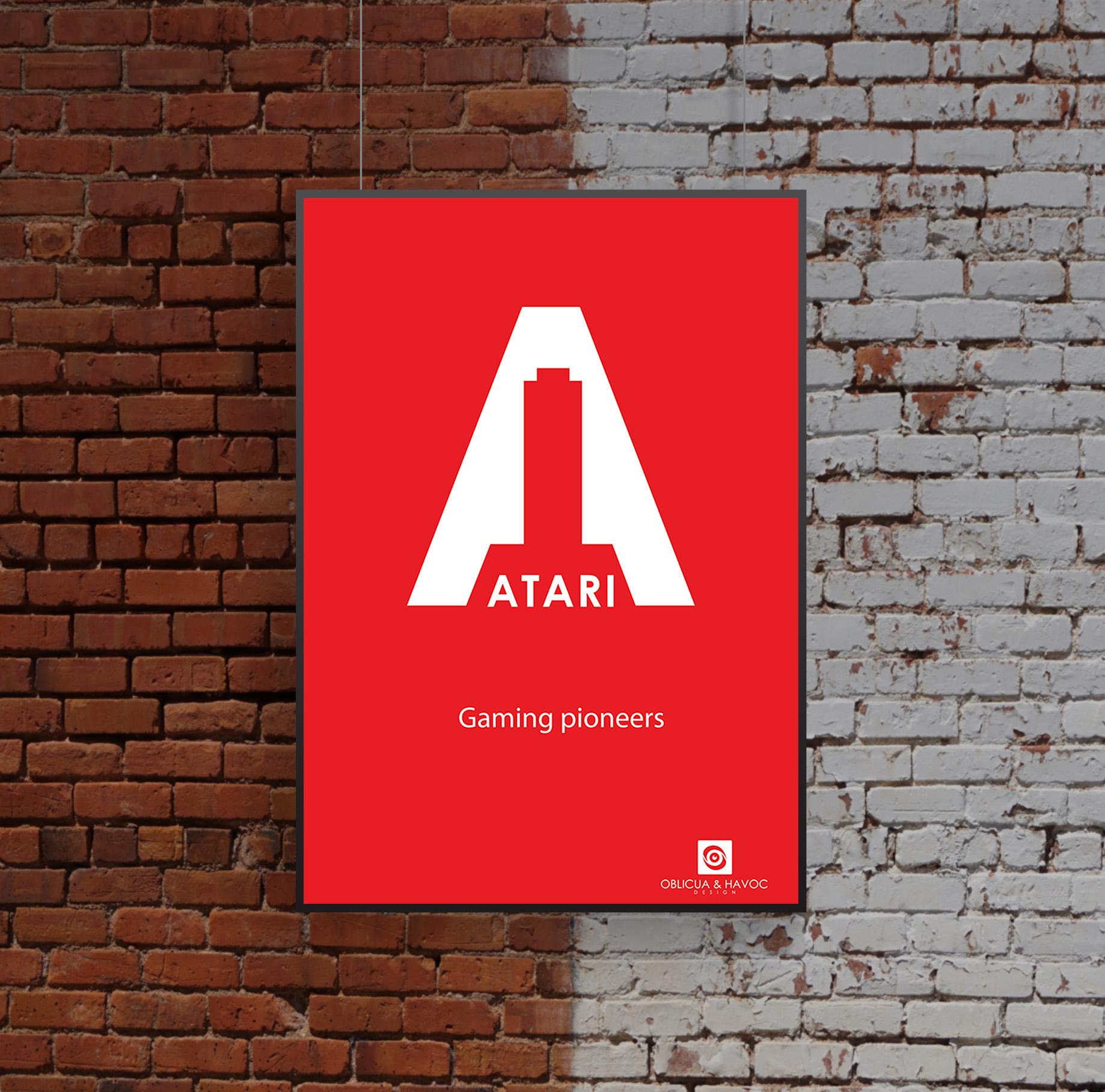 Modern Atari Rebranding Poster 1