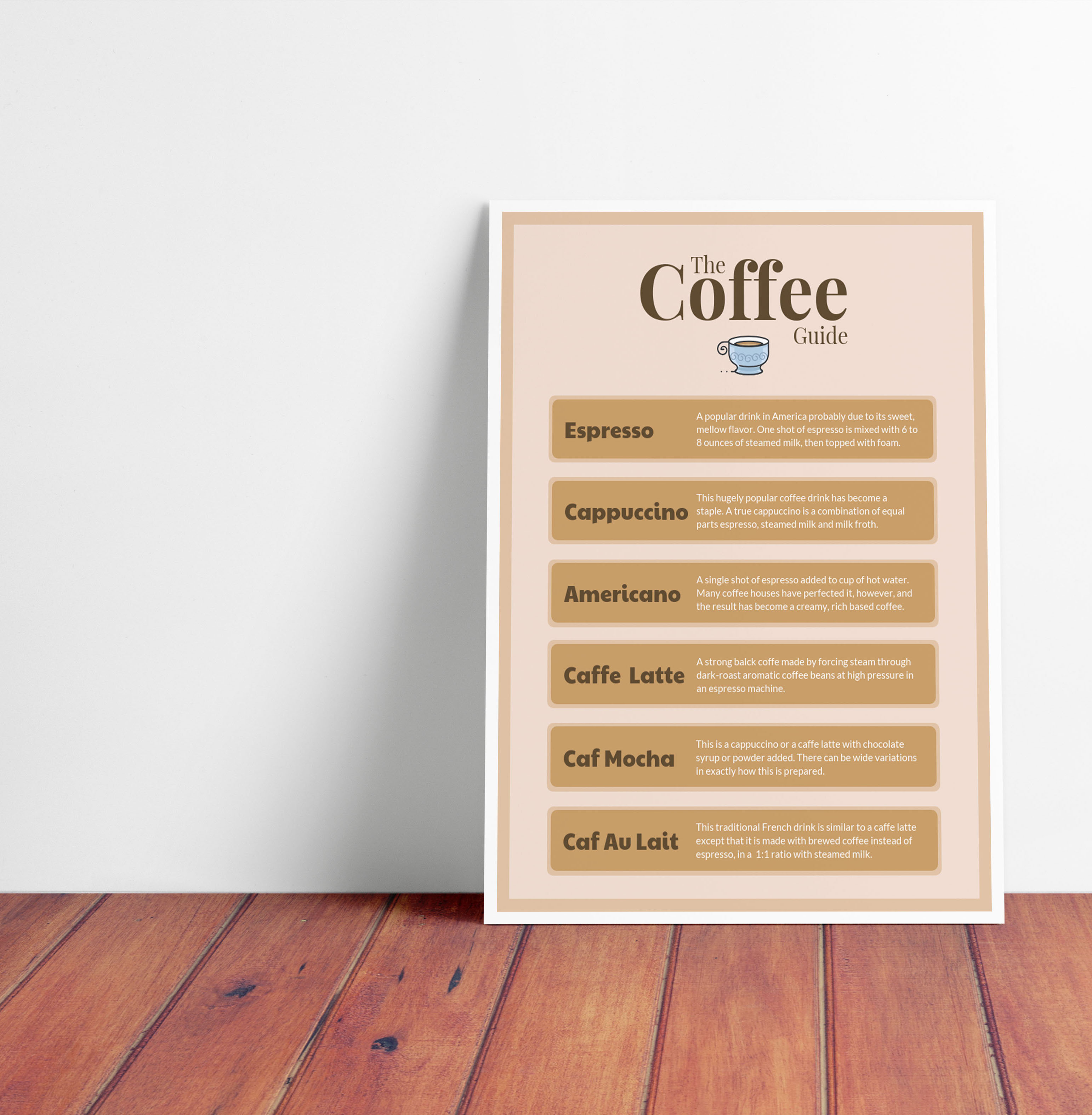 Simple Coffee Explanation Poster Template