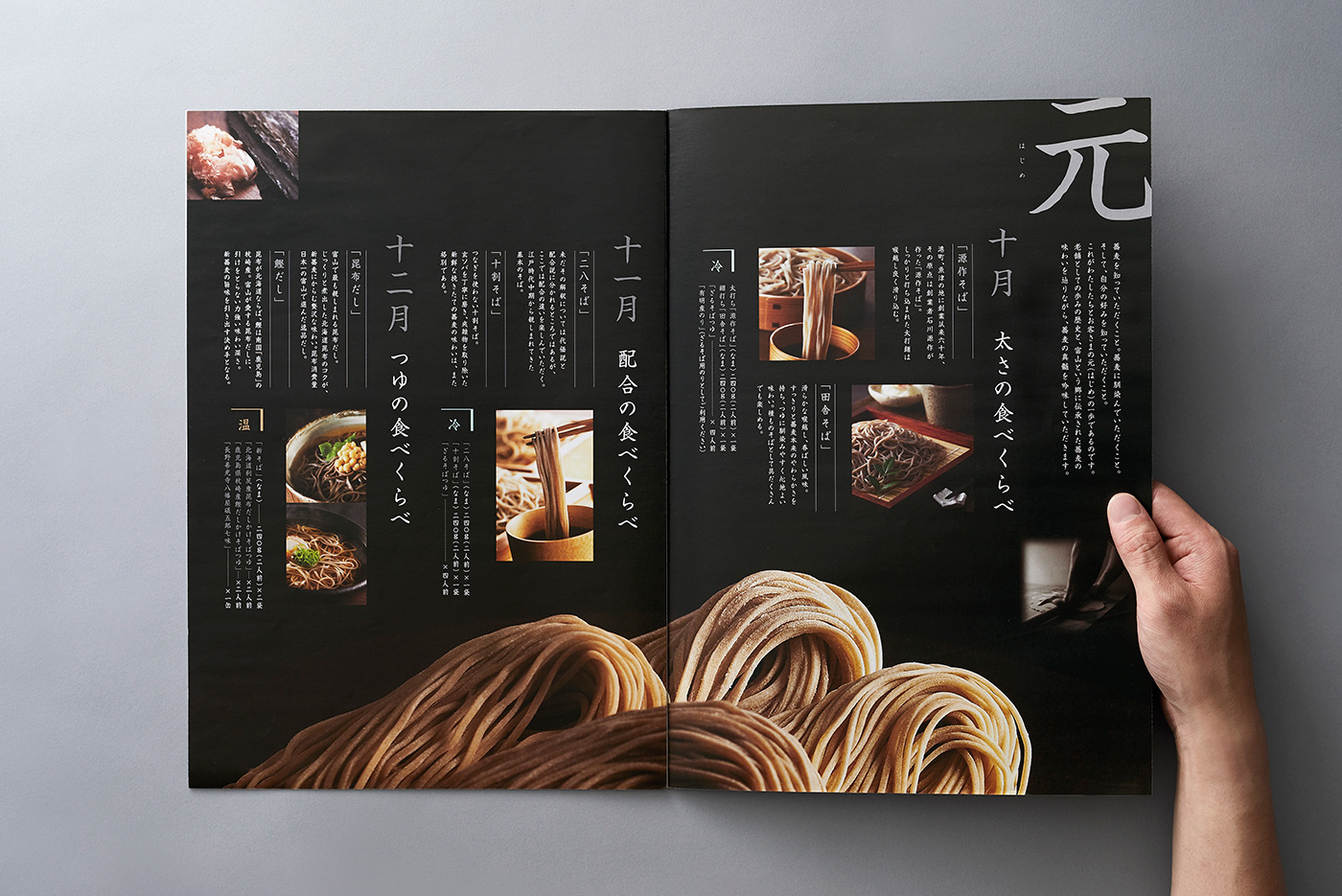 soba goyomi modern product brochure example