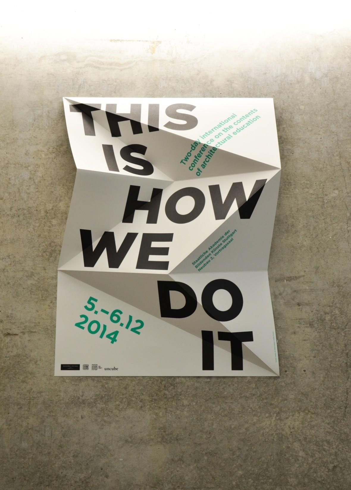 Uniquely Folded Green & White Event Brochure Idea ...
