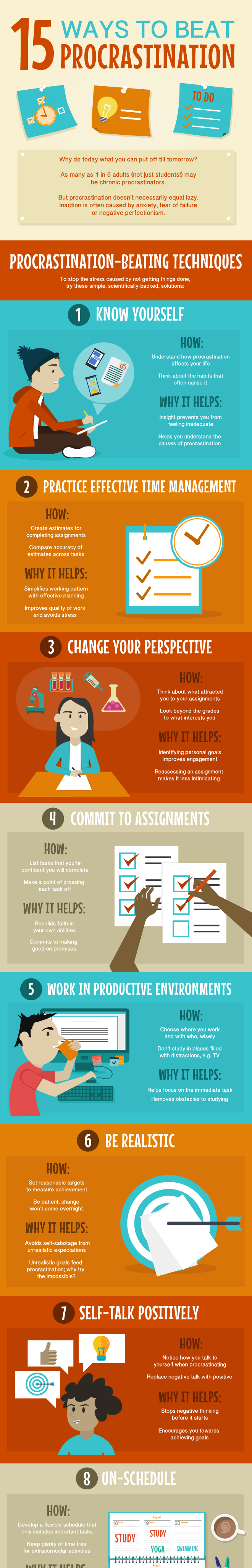 1 15 Useful Tips To Help Overcome Procrastination Infographic