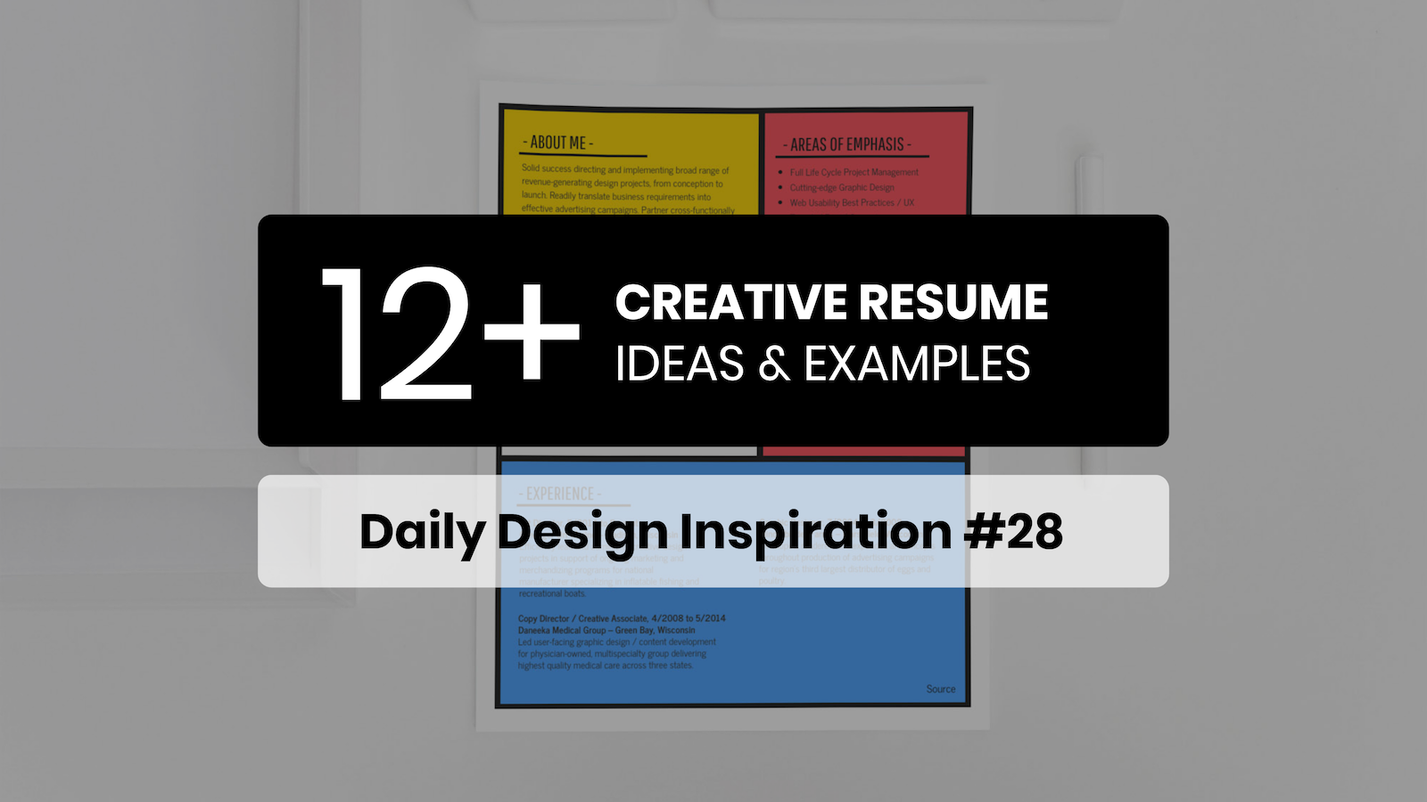 12+ Creative Resume Examples, Templates & Ideas – Daily Design Inspiration #28