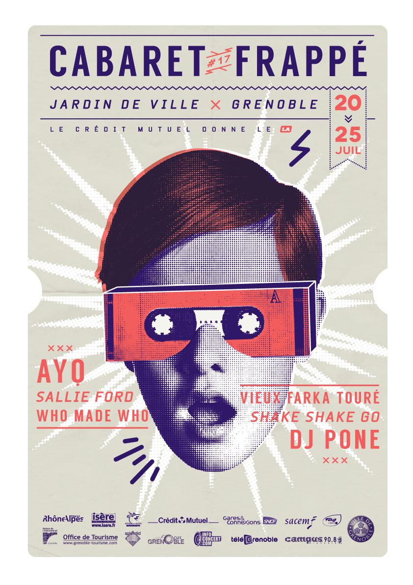 Cabaret Frappé Retro Event Poster Example6