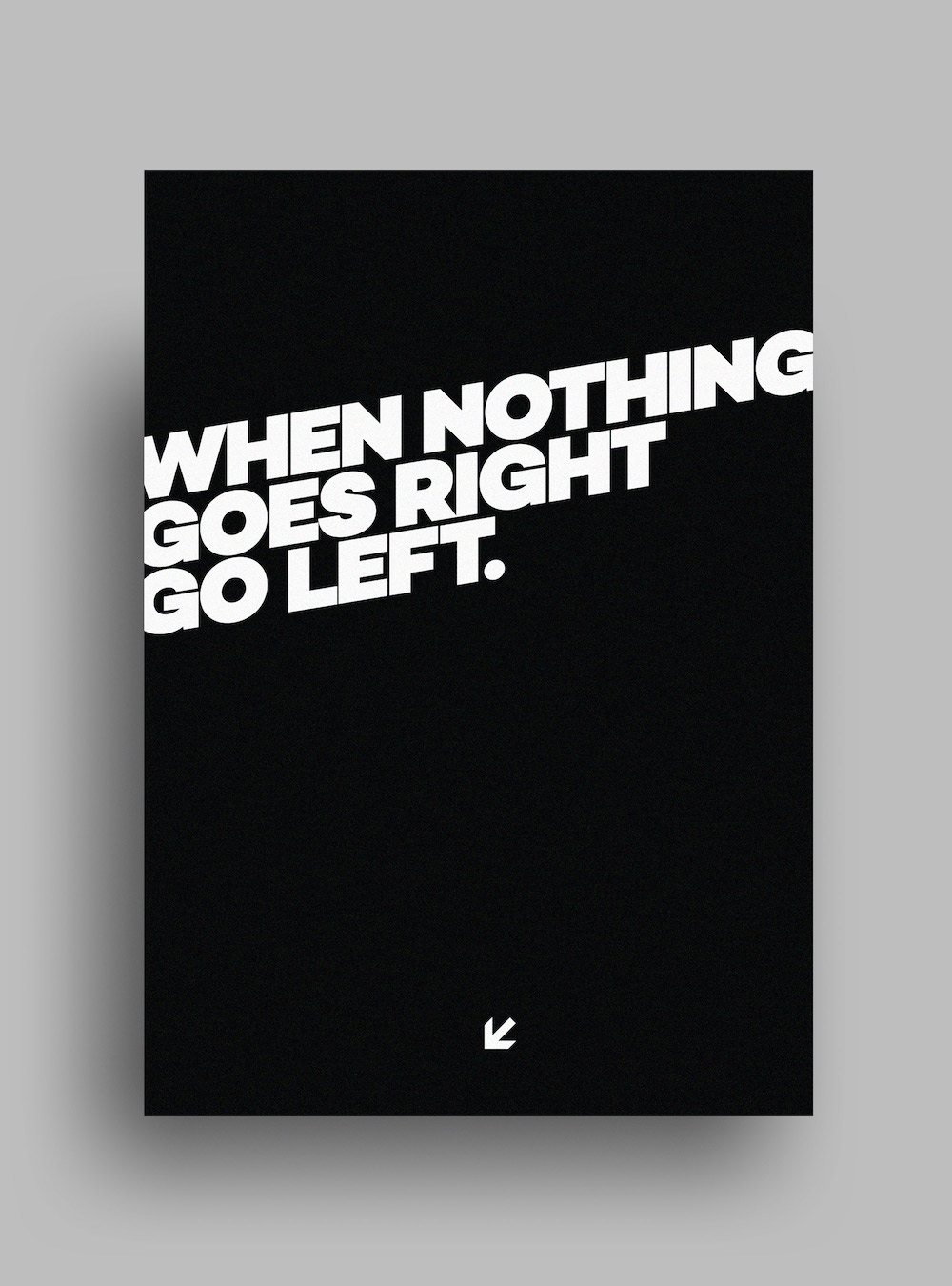 It's Not You Black Typography Poster Examples2